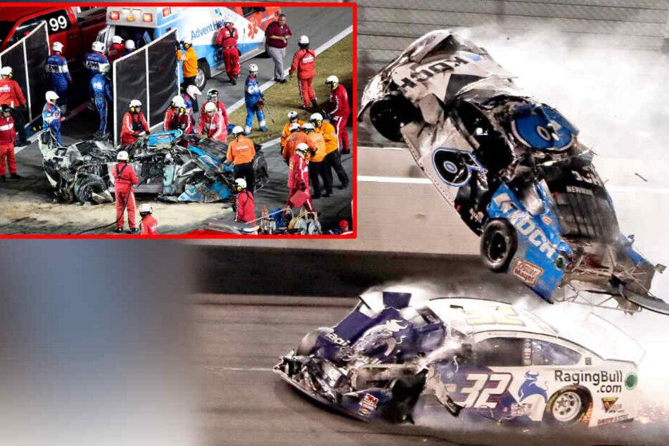 Horror-Crash überschattet Nascar-Rennen in Daytona Beach!