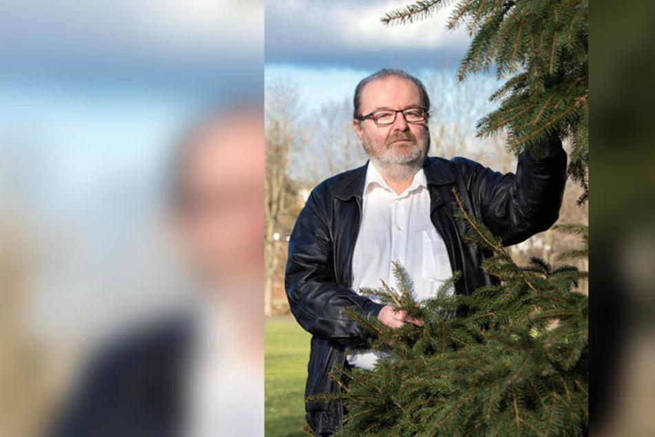 Die Fichte hat wegen des Klimawandels ausgedient, so Thomas Scherzberg (56, Linke).