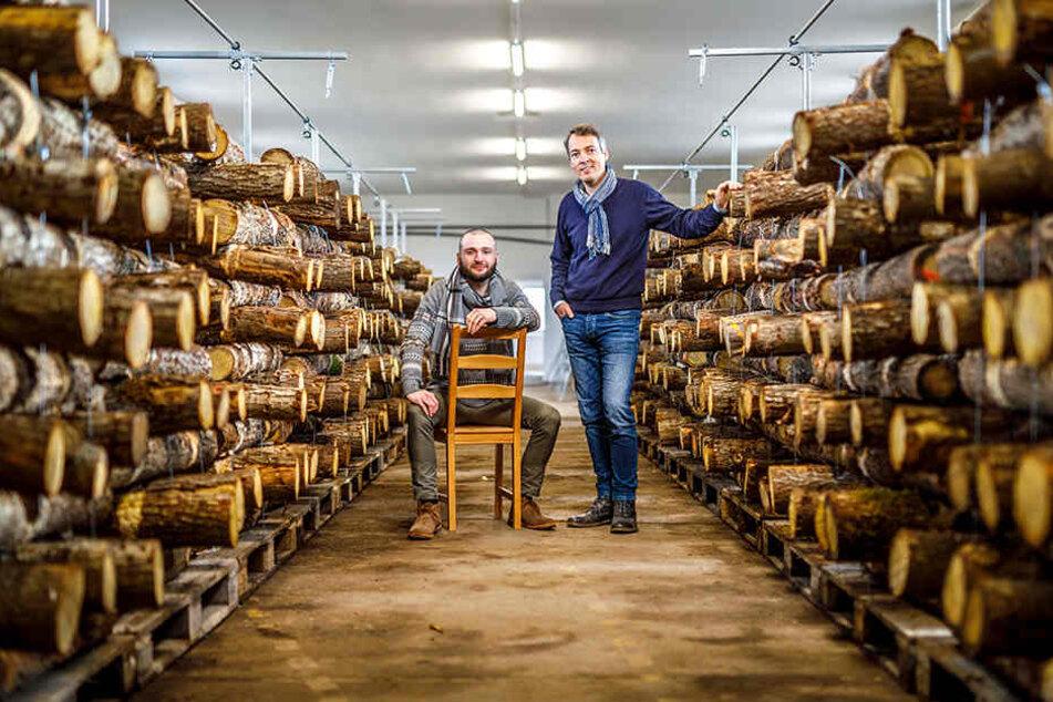 Die Öko-Genossen Karl Kretschmer (l., 28) und Jens-Uwe Sauer (r., 45) denken in großen Dimensionen. Sie wollen klotzen. Nicht kleckern.