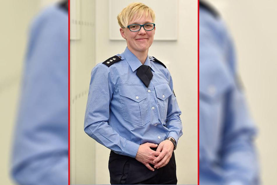 Jana Ulbricht (41) ist die neue Chef-Sprecherin der Polizeidirektion Chemnitz.