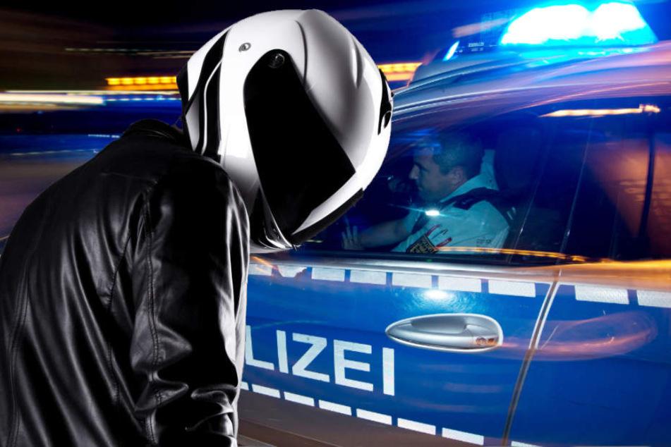 Die Polizei sucht nun nach dem Räuber. (Fotomonatge/Symbolbild)
