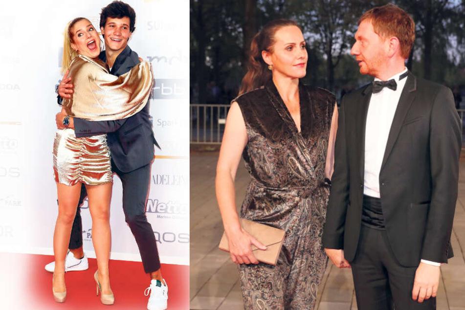 Wincent Weiss (26) und Jeanette Biedermann (39) hatten viel Spaß miteinander. Sachsens MP Michael Kretschmer (44) und seine Frau Annett Hofmann.