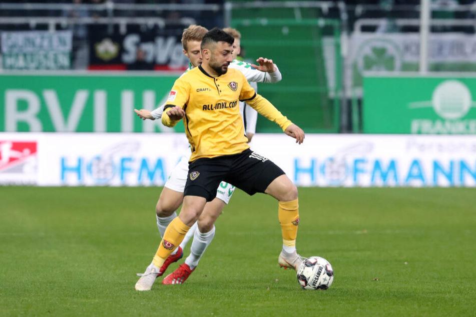 Aias Aosman beim Nachholspiel in Fürth Anfang April.