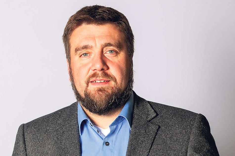 Uwe Wurlitzer (43, Blaue Partei)