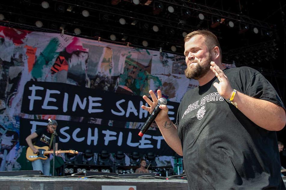 """Frontsänger Jan """"Monchi"""" Gorkow und seine Bandkollegen werden am 6. Juli 2019 bei den Filmnächten am Elbufer nicht auftreten."""