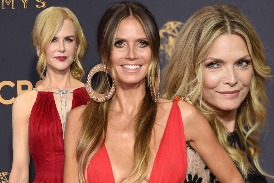 Eigentlich stehen die Emmys für Glamour und Eleganz, wie Nicole Kidman (50), Heidi Klum (44) und Michelle Pfeiffer (59) eindrucksvoll beweisen.