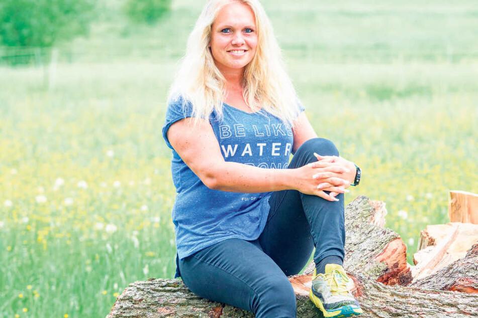 Antje Wensel lebt am grünen Saum von Bischofswerda. Pro Woche läuft sie 50 Trainingskilometer - am liebsten durch die Natur
