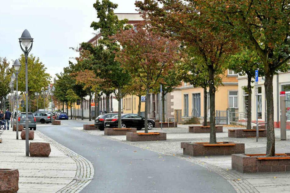 Die Heidenauer Ernst-Thälmann-Straße.
