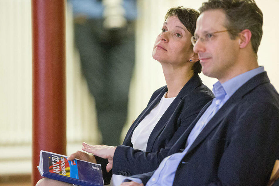 Marcus Pretzell (43) sitzt hier einträchtig neben seiner Gattin Frauke Petry (41).