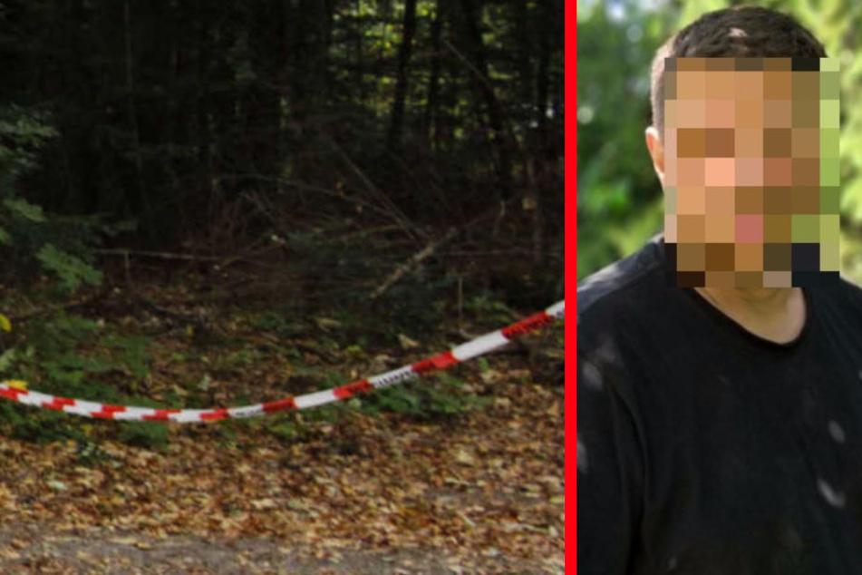 An diesem Waldstück fand man wohl die Leiche des Jägers. (Fotomontage)
