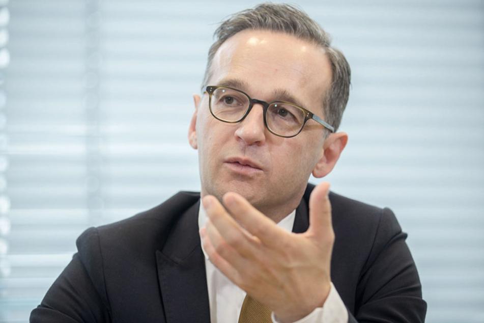 Bundesjustizminister Heiko Maas  (50, SPD) wird in Dresden von AfD & Co. angefeindet.