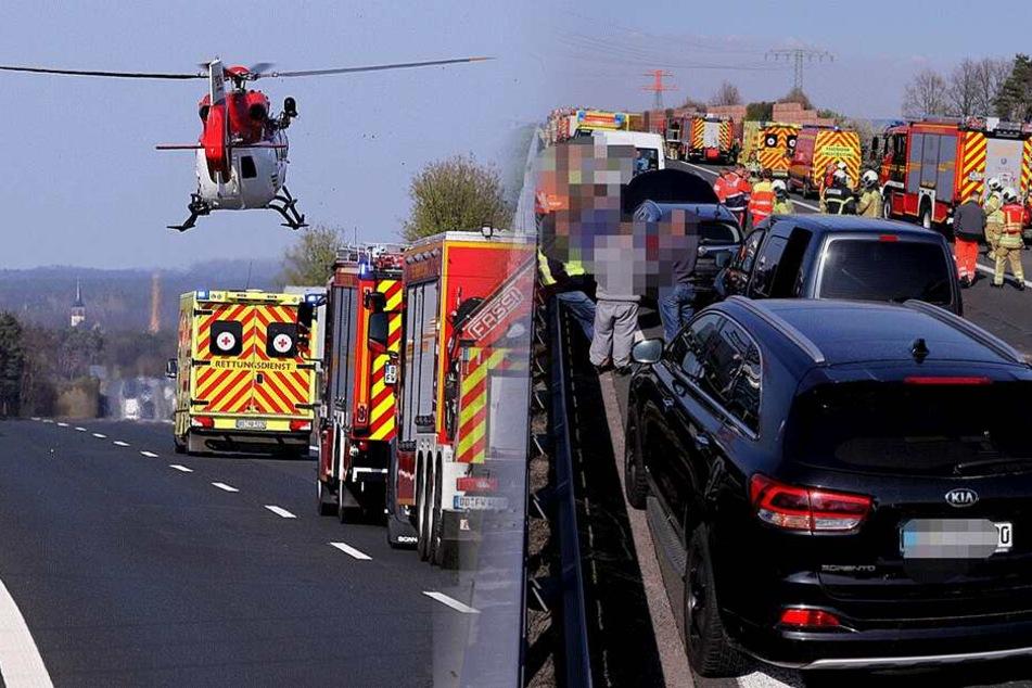 18 Verletzte: Massenkarambolage auf A4 führt zu Mega-Stau