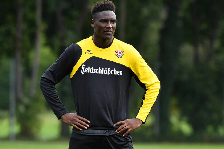 Erstes Training bei Dynamo: Neuzugang Peniel Mlapa.