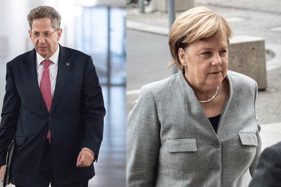 Hans-Georg Maaßen (55) und Angela Merkel (64, CDU) stehen unter Druck.