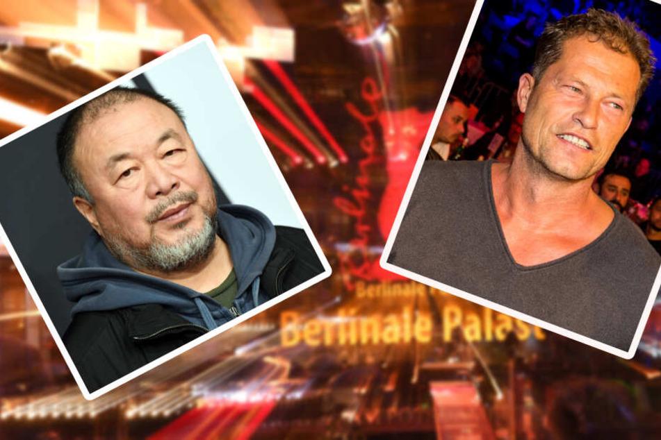 """Ai Weiwei und Till Schweiger drehten zusammen eine Episode für den Film """"Berlin, I love you"""". (Bildcollage)"""