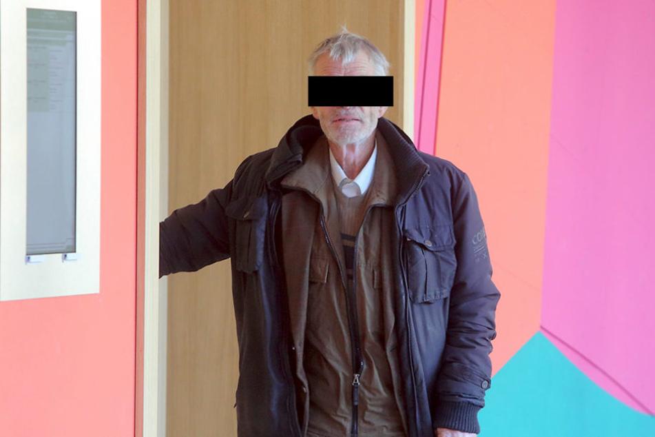 Werner Klawun (74) am Dienstag vor Gericht.