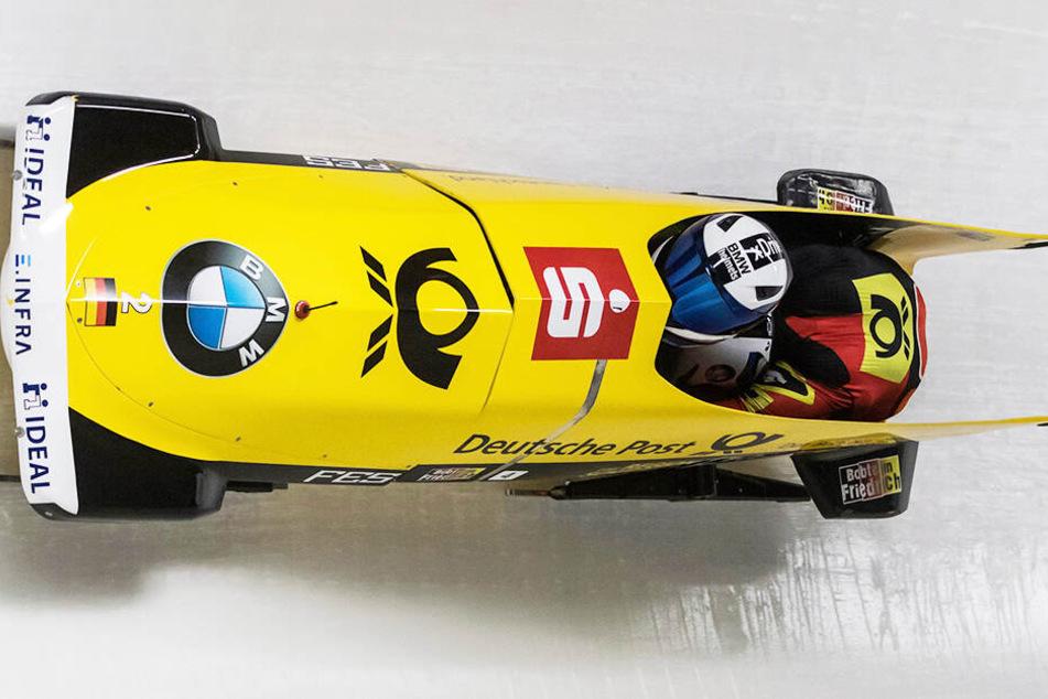 Francesco Friedrich war mit dem ersten Lauf unzufrieden, im zweiten zauberte er eine Top-Zeit in den Eiskanal von Whistler.