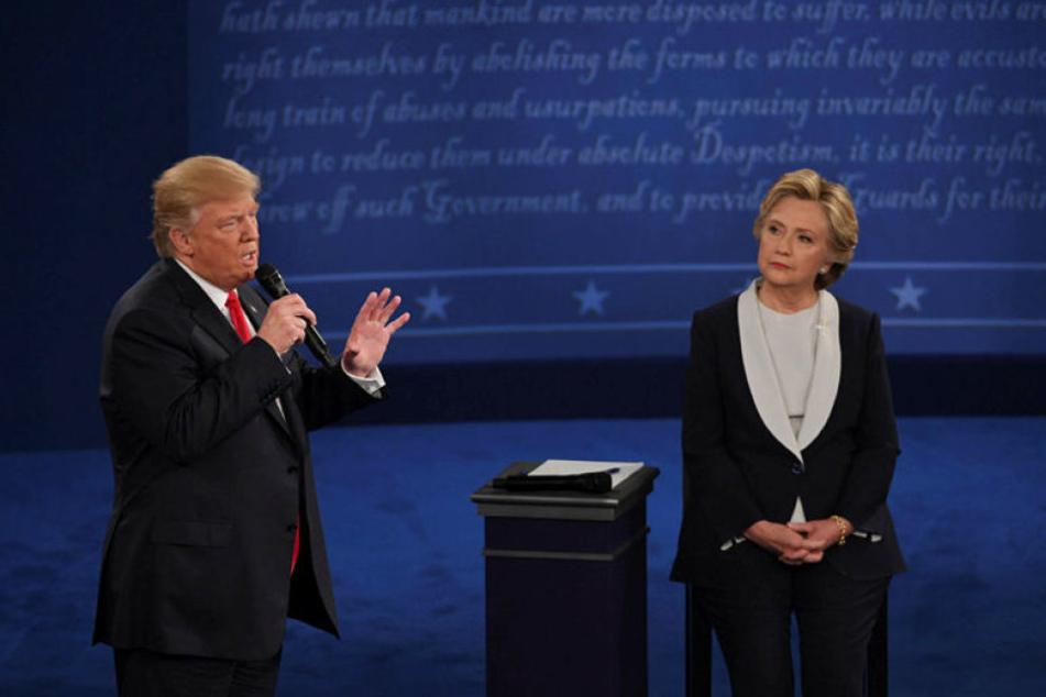 Trump redete sich zu Anfang der 90-minütigen Debatte mehrmals in Rage.