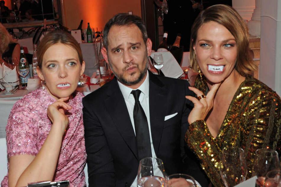 Schauspieler Laura Tonke (v-l), Moritz Bleibtreu und Jessica Schwarz.