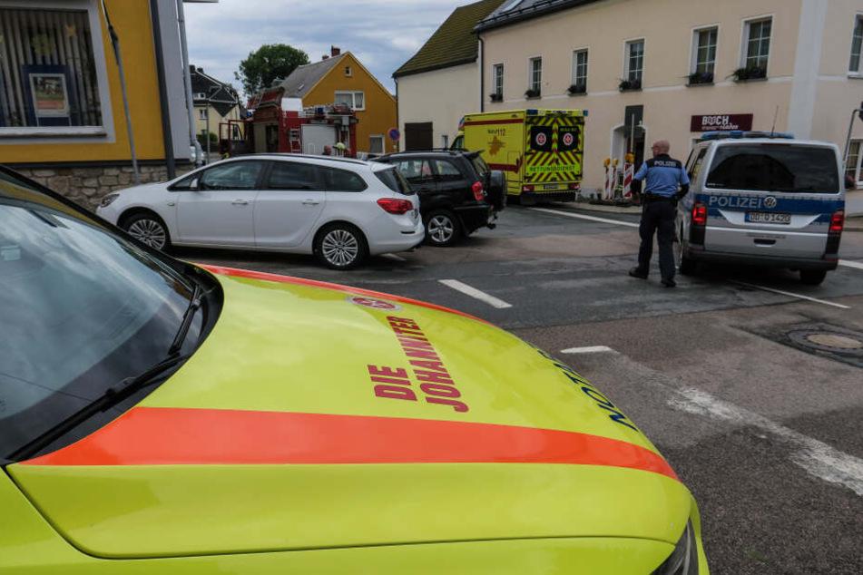 Zwei Verletzte bei Kreuzungs-Crash im Erzgebirge