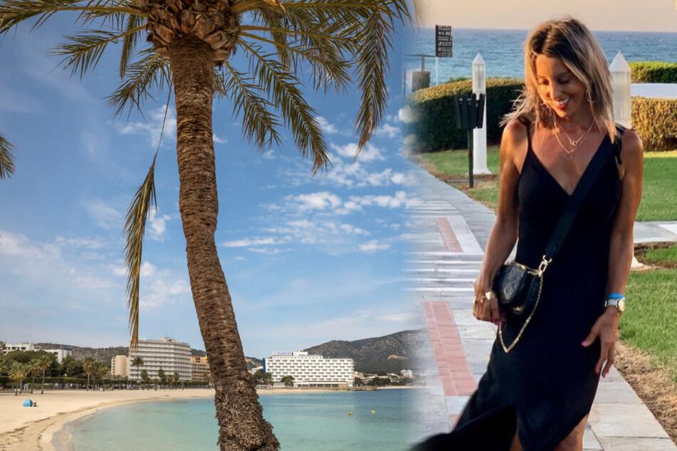 Lubna Trout se golpeó la rodilla al caer en la playa de Mallorca y se infectó con la bacteria.