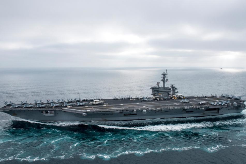"Der US-Flugzeugträger ""USS Theodore Roosevelt""."