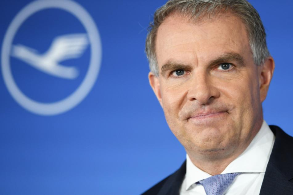 Das Foto aus dem Jahr 2018 zeigt Carsten Spohr, den Vorstandsvorsitzenden der Deutsche Lufthansa AG.