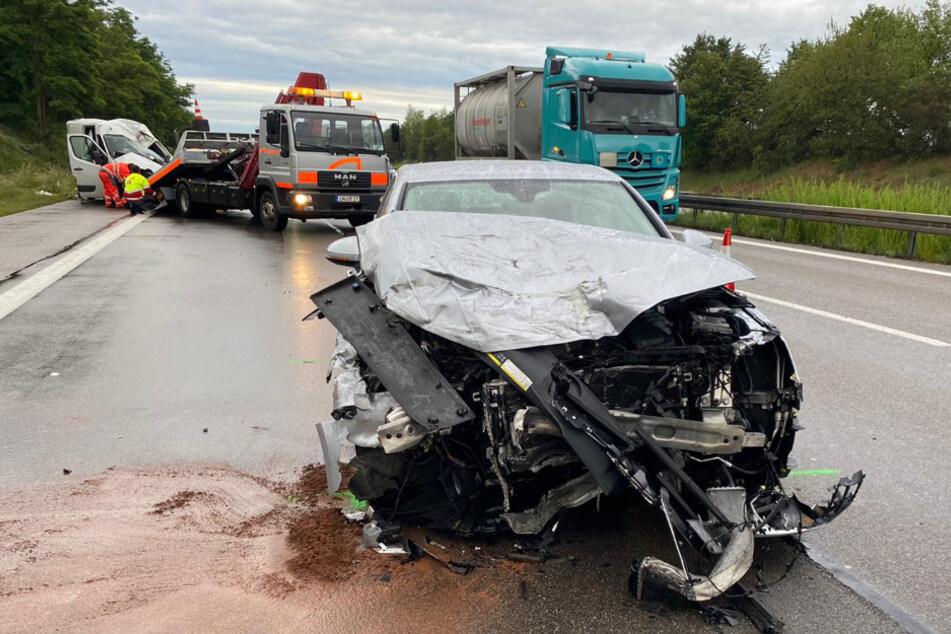 Der betrunkene Fahrer des Audi wurde lediglich leicht verletzt.
