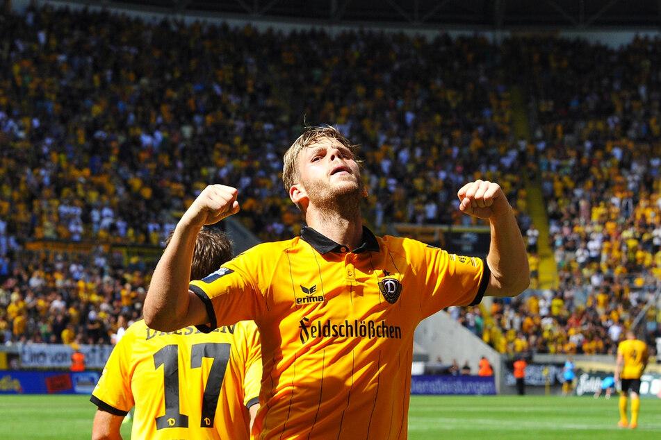 Justin Eilers (32, v.) traf in Dynamo Dresdens legendärer Aufstiegssaison 2015/16 wettbewerbsübergreifend 23 Mal in 40 Einsätzen für die SGD. Seitdem erzielte er mehr als drei Tore in einer Spielzeit - bis zur laufenden Saison!