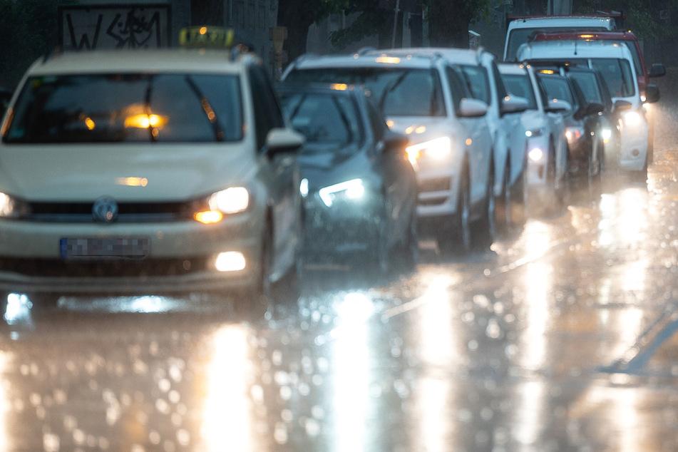 Extremer Starkregen ging am Dienstagnachmittag über der Mainmetropole Frankfurt nieder.