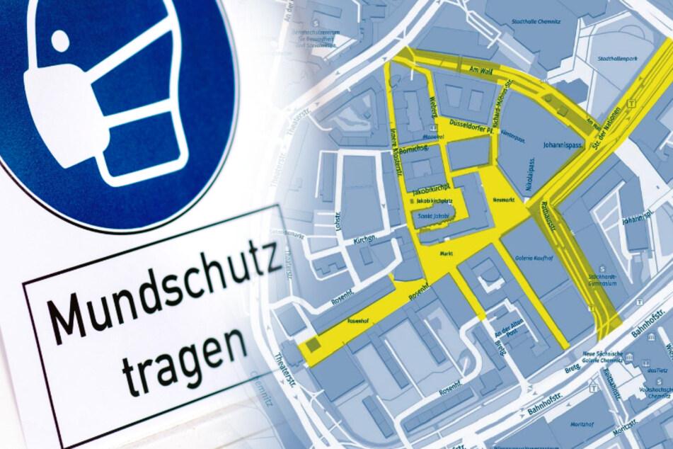 Nun gilt auch in der Chemnitzer Innenstadt eine Maskenpflicht.