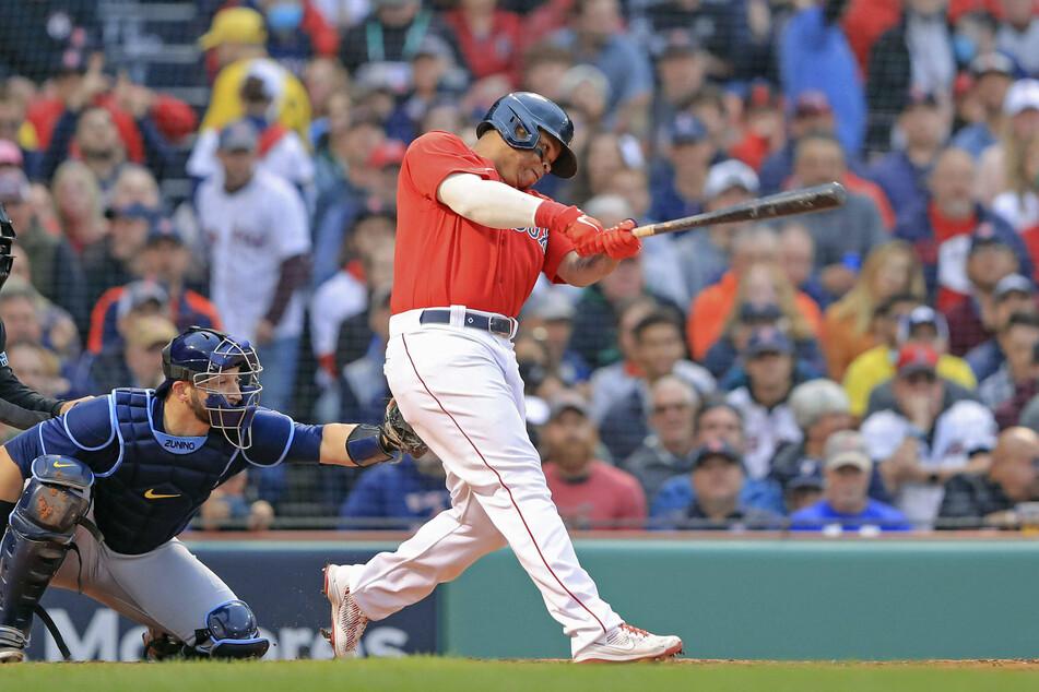 Rafael Devers hit a three-run home run in Boston's game four win over Tampa Bay.