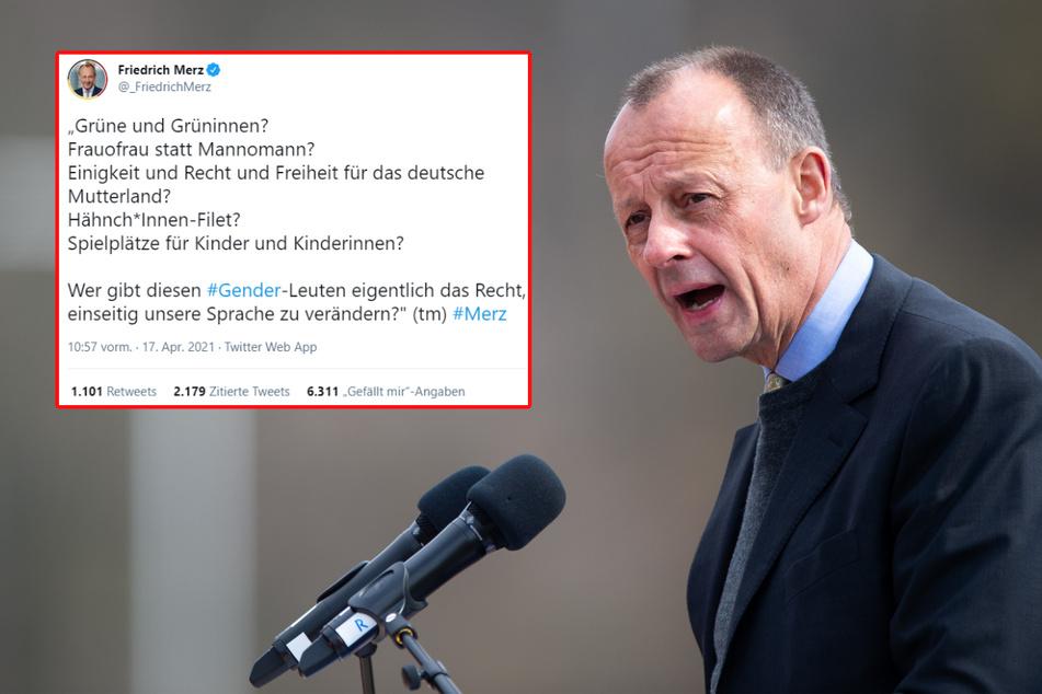 """""""Grüne und Grüninnen"""": Merz spottet über gendergerechte Sprache und erntet Kritik"""