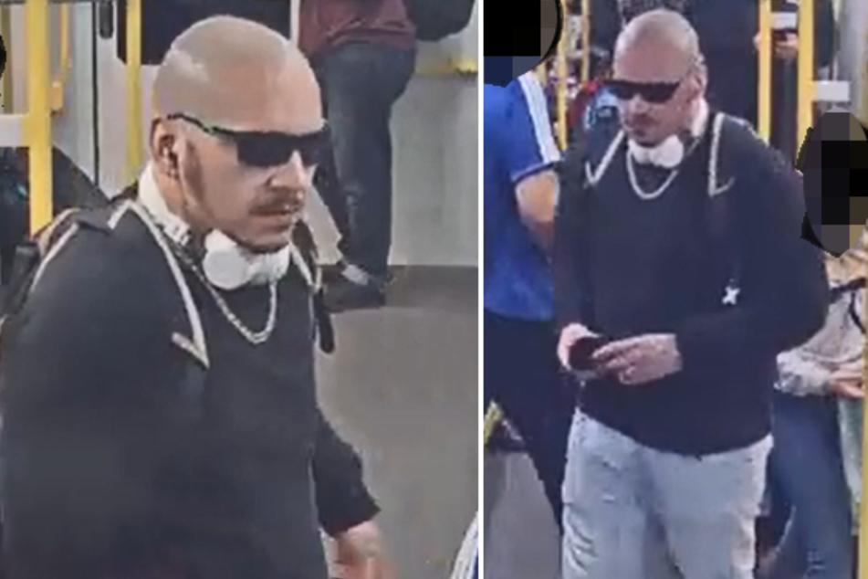 Mit Bildern aus der Überwachungskamera fahndet die Polizei nach diesem Mann.