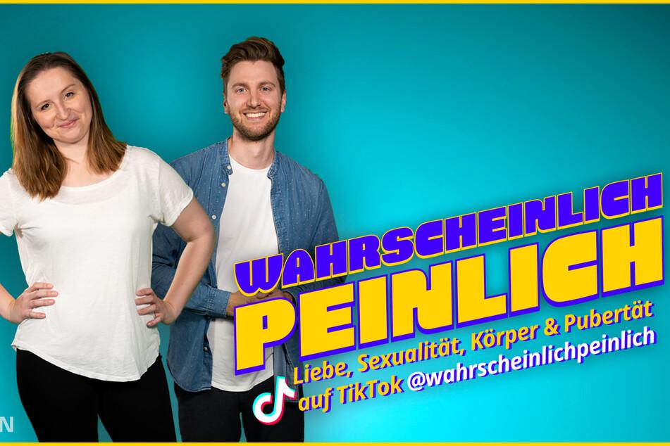 """Die beiden Hosts des neuen MDR-Formats """"Wahrscheinlich peinlich"""": Viktoria Schackow und Philipp Dubbert."""