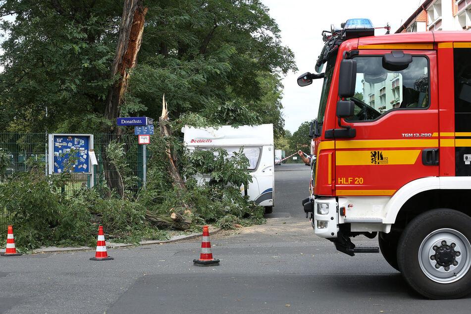 Sturm Kirsten fegt durch Dresden: Feuerwehr mit mehreren Einsätzen