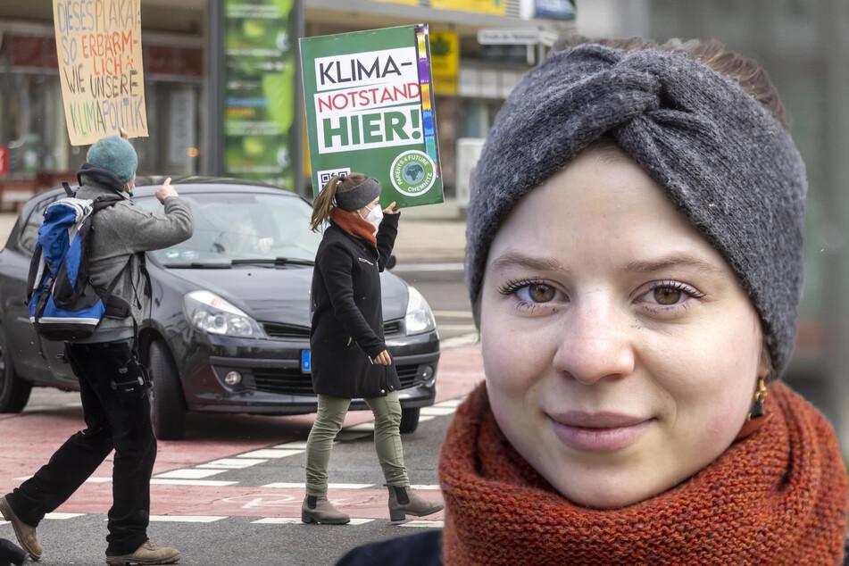 """Klimastreik in Chemnitz: Aktivisten wollen """"Autofahrer zum Nachdenken anregen"""""""