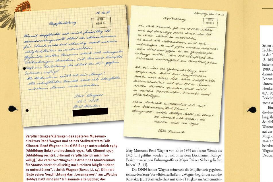 """Deckname """"Runge"""": Die unterschriebene Stasi-Verpflichtungserklärung René Wagners."""