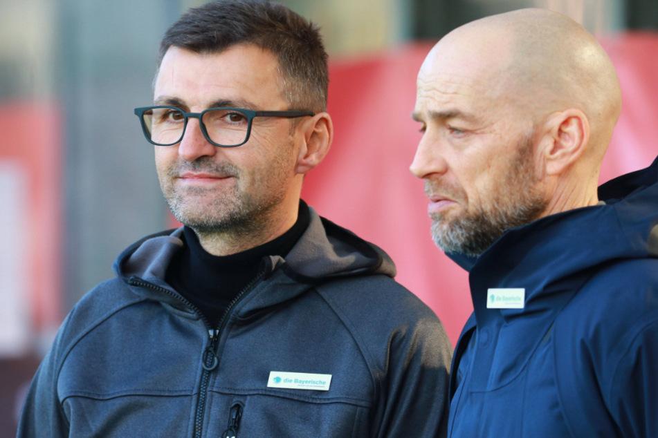 Löwen-Geschäftsführer Günther Gorenzel (r.) äußert sich zur Corona-Krise und den Auswirkungen auf den TSV 1860 München.