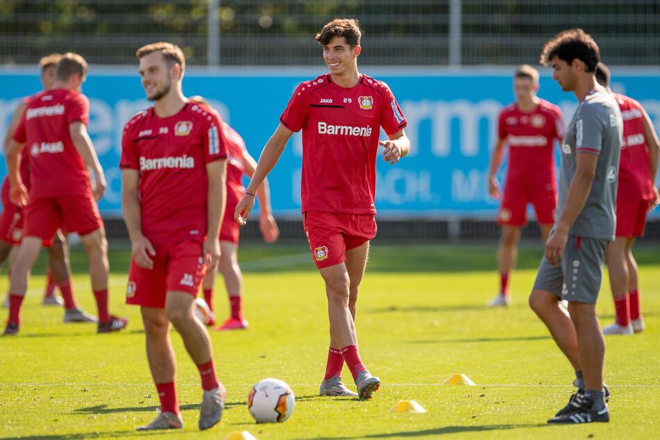 Das Training bei Bayer Leverkusen am Donnerstag.