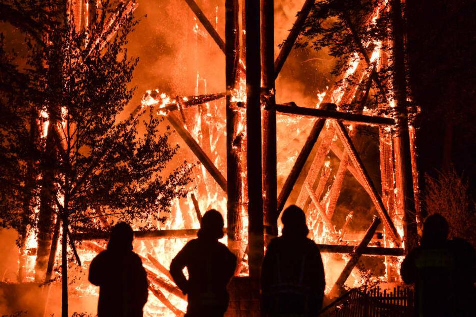 Im Oktober 2017 war der Goetheturm durch Brandstiftung vollständig zerstört worden (Archivbild).