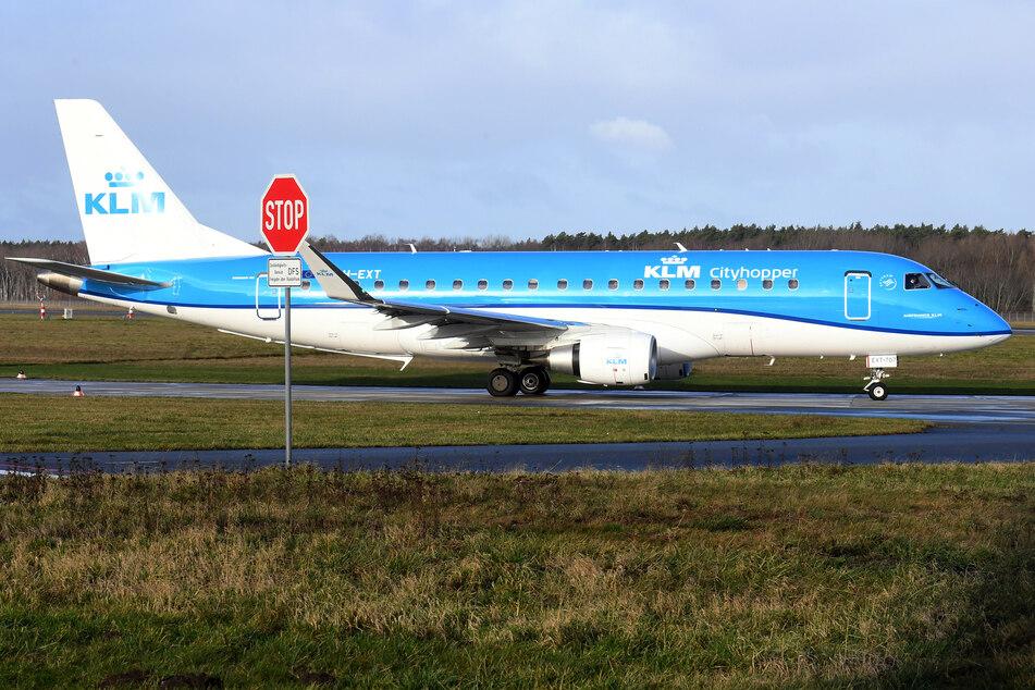 """Ein """"KLM Cityhopper""""-""""Embraer 175""""-Jet."""