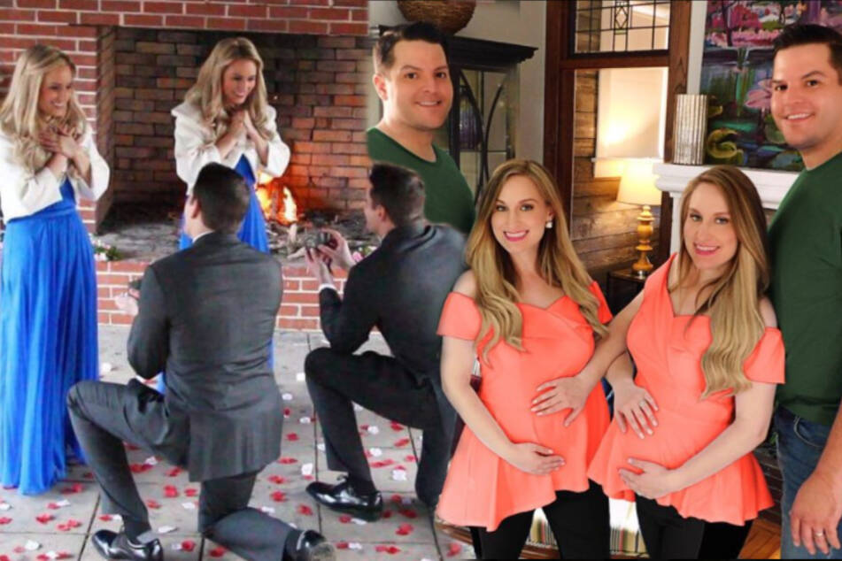 Twin couples take identical act to the next level with synchronized pregnancies!