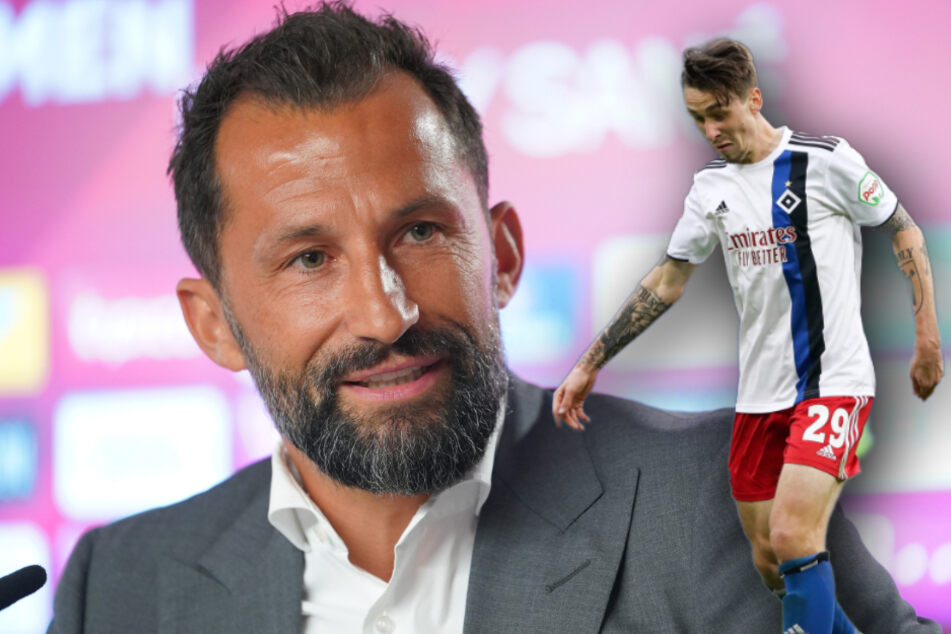 Bayern Sportvorstand Hasan Salihamidžić (43, l.) wünscht Adrian Fein (21) alles Gute. (Bildmontage)