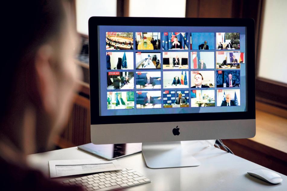 Auch im Auswärtigen Amt wird inzwischen viel per Videochat kommuniziert.