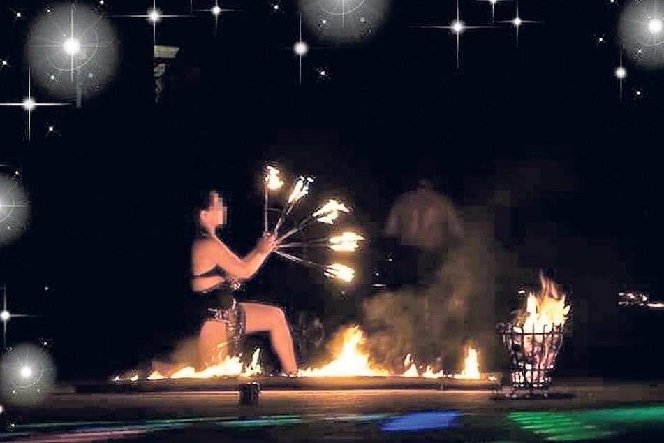 Kati H. war auch als Feuerkünstlerin bekannt.