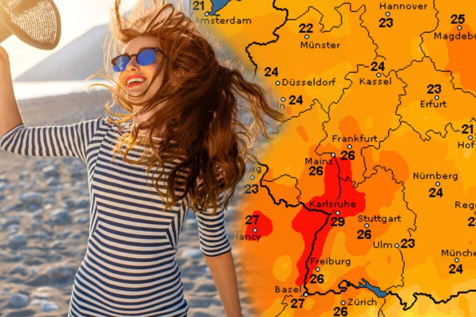 Bis zu 34 Grad! Nächste Woche wird es richtig heiß in Deutschland