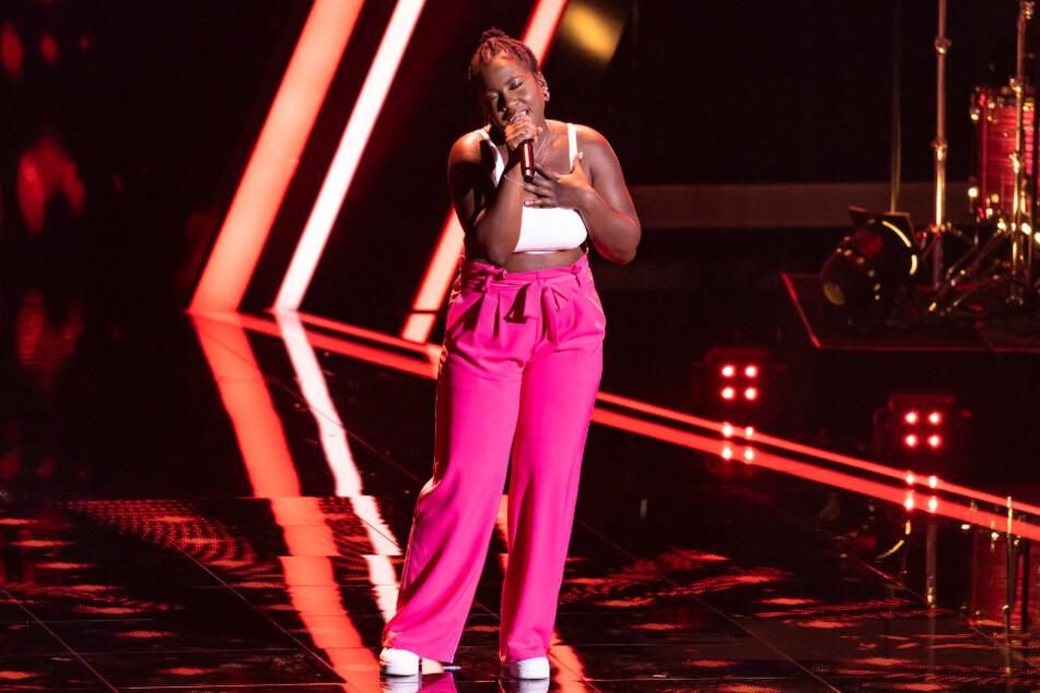 Esther Nkongo bei ihrem Auftritt.