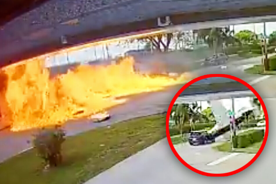 Video shows moment of fatal tragedy as plane crashes into SUV