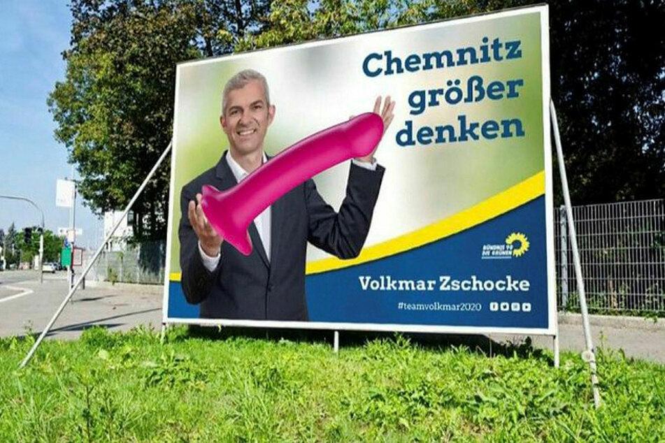 Chemnitz: OB-Wahlplakat wird zur Photoshop-Wundertüte